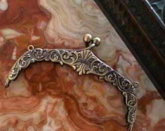 5.3 inch vintage alloy purse frame clasp clip