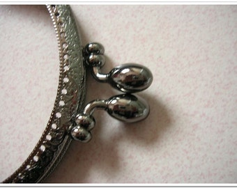 2pcs 9.5 cm gunmetal  gun color coin purse frame bag frame clip clasp