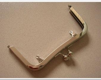 10pcs 6 inch silver metal purse frame purse making supplies