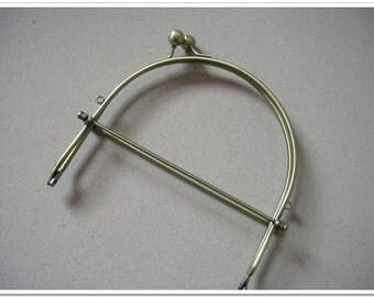 6 inch antiqued bronze half round metal purse frame