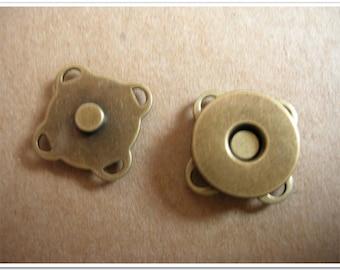 20 sets 10mm,14mm,18mm 20sets 10mm,14mm,18mm Sewing Magnetic Snap Magnetic purse Closure Magnetic purse Button antique bronze