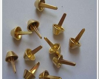 50pcs 12mm golden brushed purse feet purse supplies foot purse making hardware,bag feet,handbag feet,handbag hardware