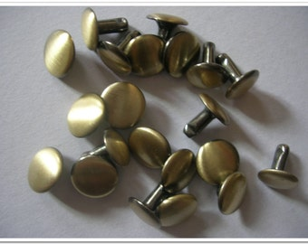 20 sets 9mm antique brass Rivets purse making supplies