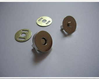 100 sets 18mm silver Magnetic Snap