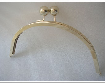 9 inch light gold big bead half round purse frame large purse frame purse making supplies