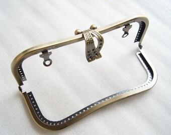 18cm antique bronze sewing purse frame purse metal frame vintage purse frame