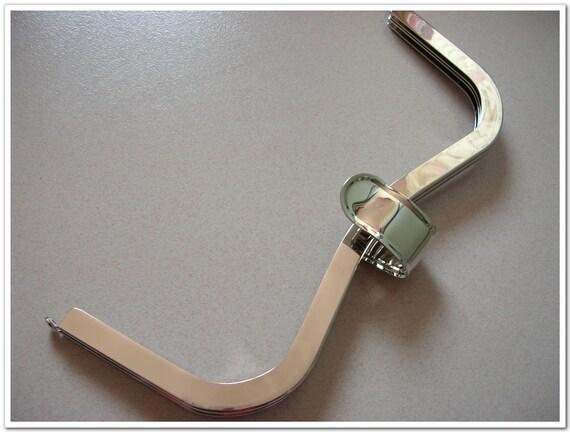 New\/Big size\/12 inch silver heart shape bag frame purse frame