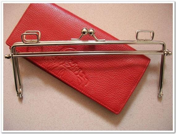 20cm silver quadrate metal purse frame bag frame
