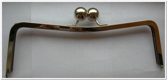 12 inch silver big bead purse frame bag frame