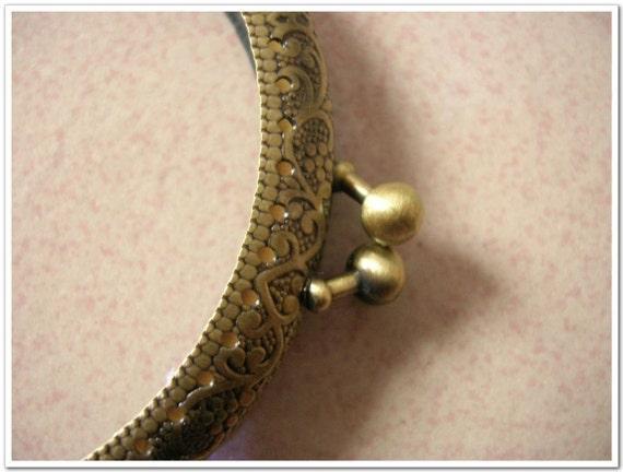 9.5 cm antique brone sewing purse frame coin purse frame clip clasp