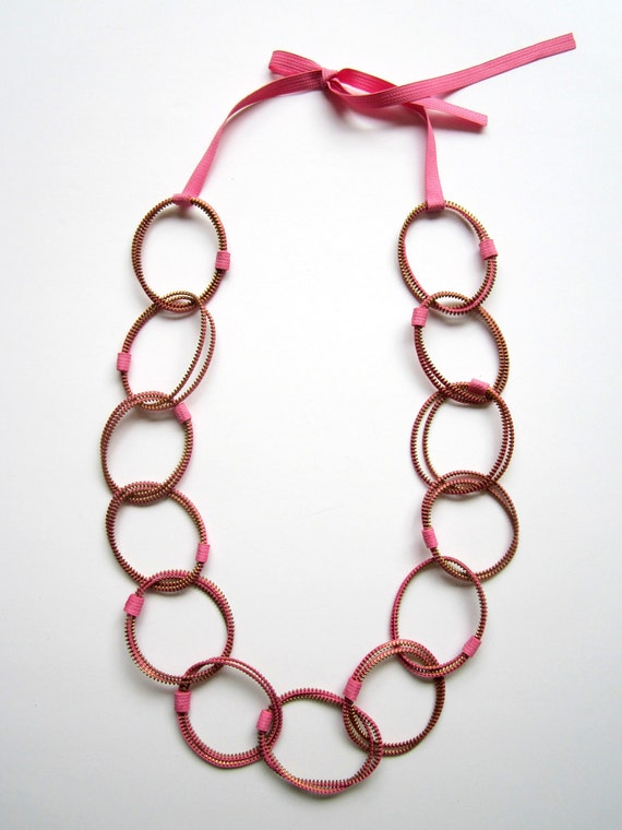 PINK and LINK - Zipper Necklace