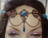 Water Fairy Queen Bridal Circlet LARP Elven Celtic Renaissance