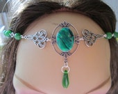 Emerald Circlet of the Nature Magics Elven Celtic Druid LARP Bridal Renaissance