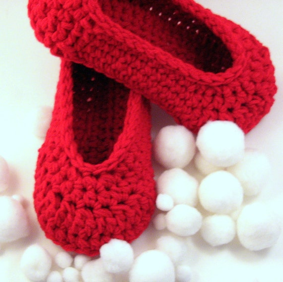 Custom Order for 2 paires of Lipstick Red Cottage Slippers with Buttons just for Jane