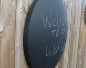 Large Modern Indusrial Style Chalkboard -- Upcycled Aluminum