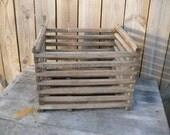 Primitive Industrial Wood Apple Crate Box