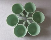 Vintage Mugs. Mint Green Melamine. Set of 6. Addy on Etsy.