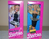 Vintage 1991 Party Pretty and Golden Evening Barbies