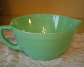Vintage/Antique Narrow-Band FireKing Jadeite Batter Bowl, Vintage Kitchen, Country Home.
