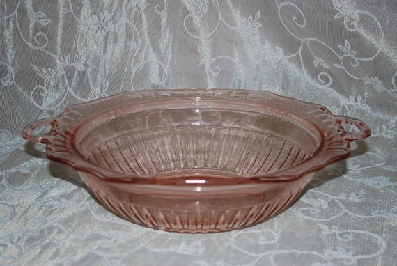 Pink Depression Glass Bowl Large Antique By