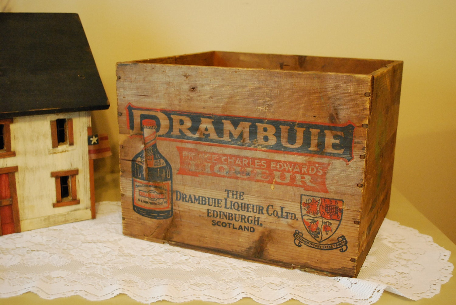 vintage wood drambuie wine crate by aglimpsefromthepast on