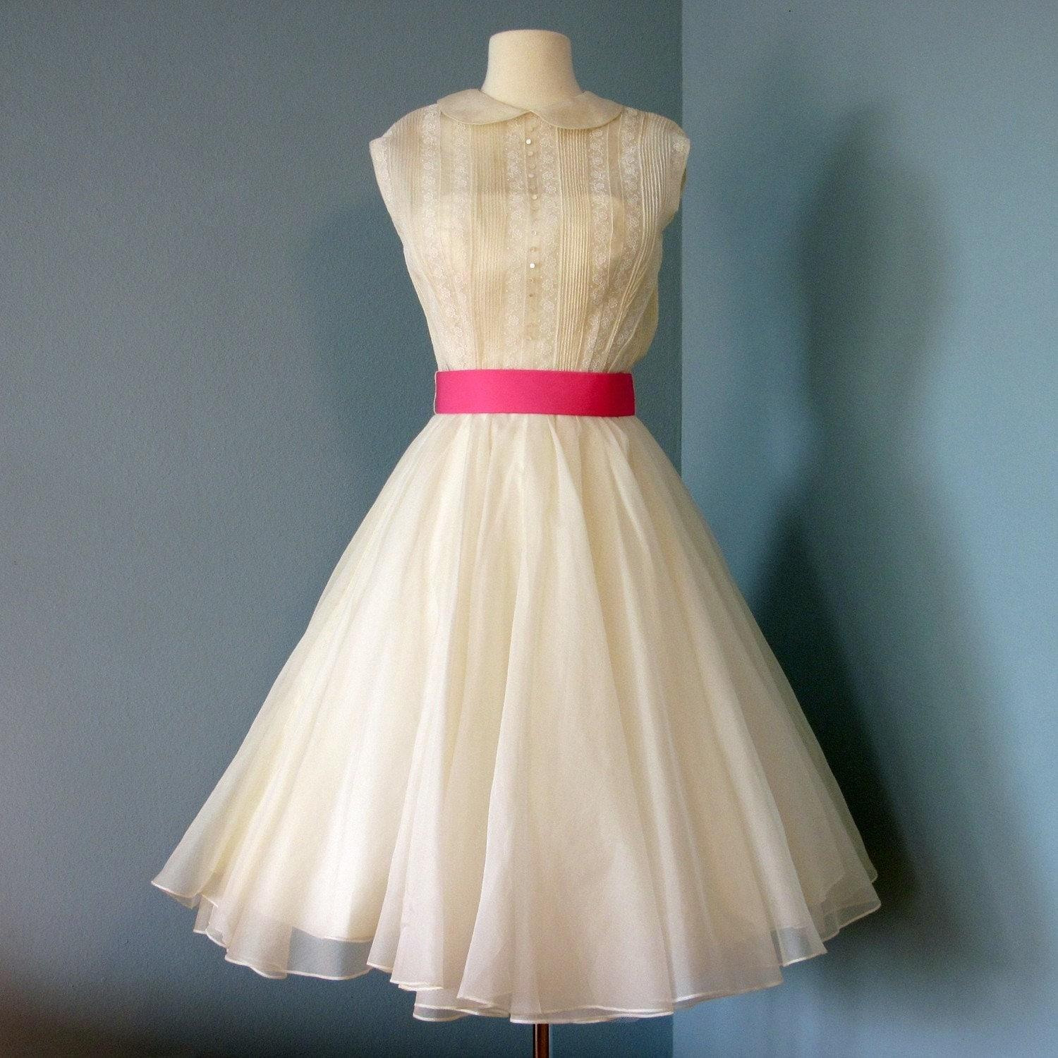 Vintage Wedding Dresses Nyc: Vintage 1950s Or 1960s Wilshires Bullock Ivory Organdy By