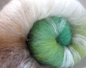 Fresh Luxury Batt, Alpaca Merino Silk Firestar Bamboo 4 oz