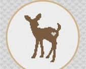 Deer Silhouette Cross Stitch PDF Pattern I