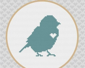 Bird Silhouette Cross Stitch PDF Pattern 2