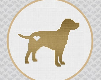 Labrador Silhouette Cross Stitch PDF Pattern