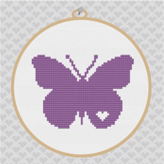 Butterfly Silhouette Cross Stitch PDF Pattern I