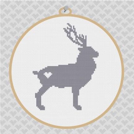 Deer Buck Silhouette Afghan Crochet Pattern Graph - chellacrochet