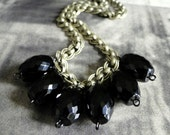Jewelry Necklace Autumn Black, Necklace Long, Chic, Steampunk, Vintage, Gemstones, Accessories