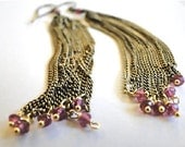 Jewelry Dangle Earrings, Jewelry Chain, Tourmaline, Pink Gemstones, Accessories  Steampunk Accessories, Gift Box