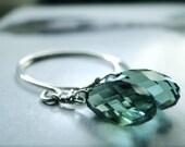 Jewelry, Dangle Earrings, Drop Earrings, Crystal, Sterling Silver Hoops, Spring Delicate Earrings, Accessories, Gift for Her