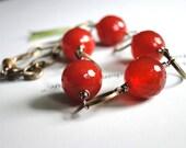 Gemstone Bracelet, Gift for Her, Burnt Orange Gems, Accessories, Gift Box