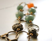 Bracelet, Rustic Earthy Gemstones, Boho Chic, Urban Luxe, Gemstone Bracelet Accessory