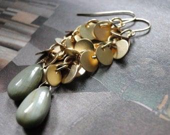 14k Gold Filled Jewelry, Earrings, Dangle Earrings, Mother's Day, Spring Accessories Cat's Eye, Gemstone Earrings, Accessories, Gift Box