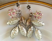 Snow Berry Vintage Assemblage Earrings