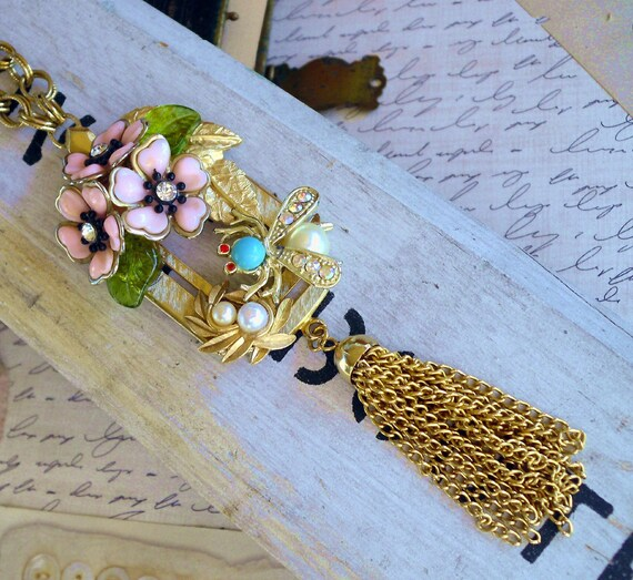 In my Garden Again Vintage Assemblage Necklace