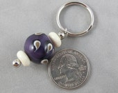 Simply Violet Pattern Keychain \/ Zipper Pull