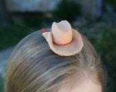 GIDDY UP Cowgirl Hat Felt Hair Clip