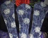 Blue Moon cloth menstrual pads, 3 Blue Thong liners