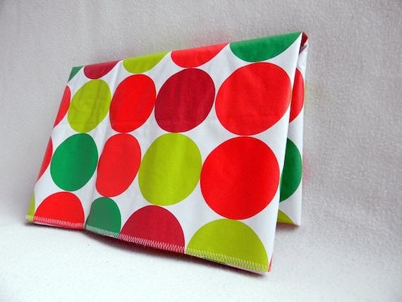 Vinyl  Splat Mat  Art Mat Red Green Lime Large Circles  LARGE