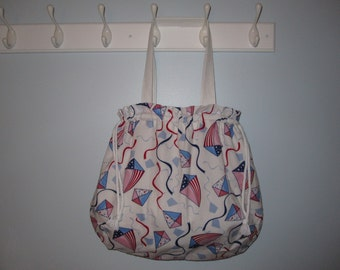 Fly a Kite Tote Bag (Red, White, Blue)