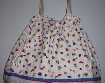 Tote Bag - White/Multicolor - Beach Print