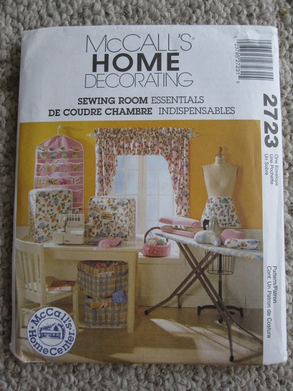 Mccalls 2723 Uncut Pattern Home Decor Sewing Room
