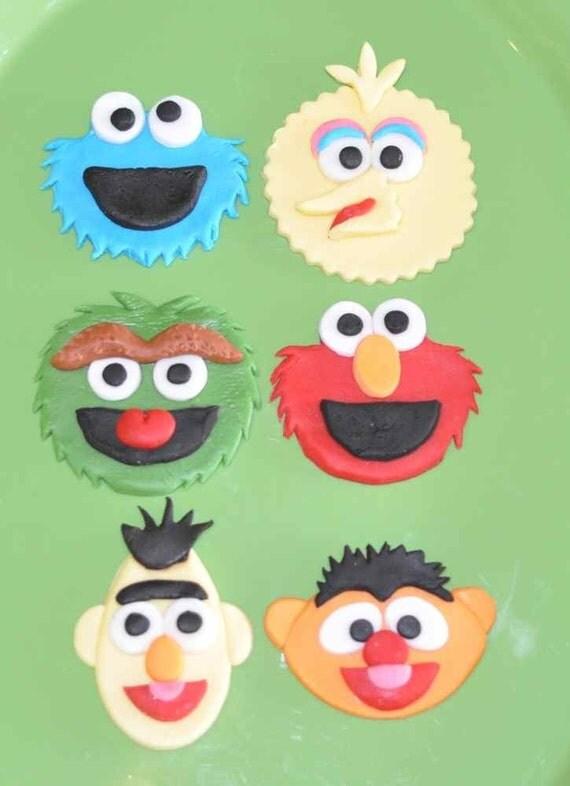 Edible Sesame Street Cake Toppers