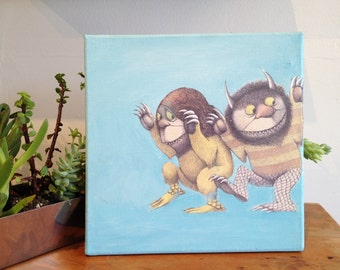 Where the Wild Things Are Collage and Mixed Media PRINT by Katherine Metz