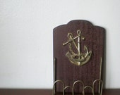 vintage wall decor wooden anchor key holder or jewelry hook